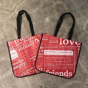 Lululemon Large Shopping Bags Set of 2